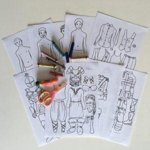Strihanie a lepenie kostýmy